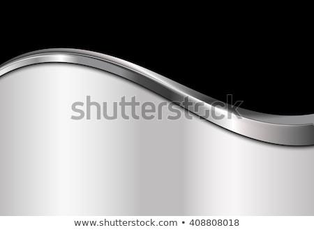 Chrom Welle abstrakten weiß Textur Internet Stock foto © zven0