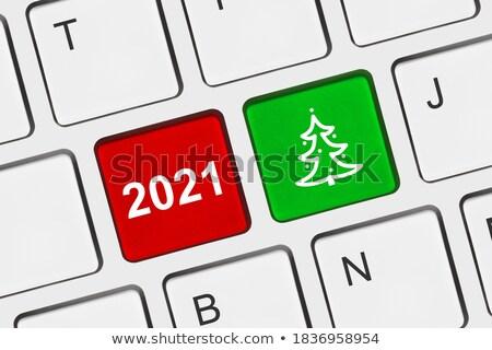 computer keyboard christmas 2 stock photo © oakozhan
