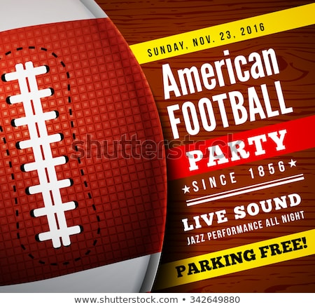 Amerikan futbol parti şablon örnek vektör Stok fotoğraf © enterlinedesign