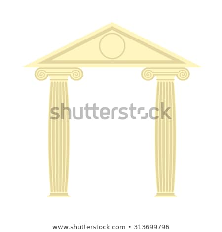 Grego templo dois coluna telhado vetor Foto stock © popaukropa
