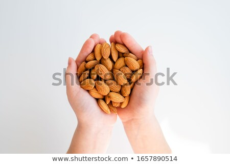 édes · pörkölt · mandulák · ízletes · kék · kerámia - stock fotó © denismart