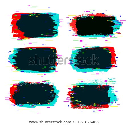 Brush strokes banner with glitch rgb effect Stock photo © Sonya_illustrations