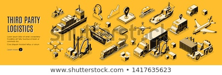 Commercial transport isometric 3d banner Stock photo © studioworkstock
