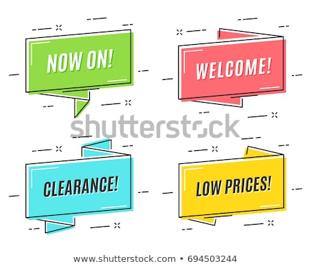 Special offer sticker in trendy linear style Stock photo © studioworkstock