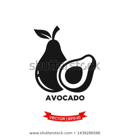 Avocat silhouette isolé noir alimentaire Photo stock © deandrobot