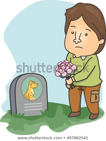 男 訪問 死んだ ペット 犬 実例 ストックフォト © lenm