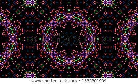 Caleidoscoop meetkundig kleurrijk patroon abstract textuur Stockfoto © FoxysGraphic