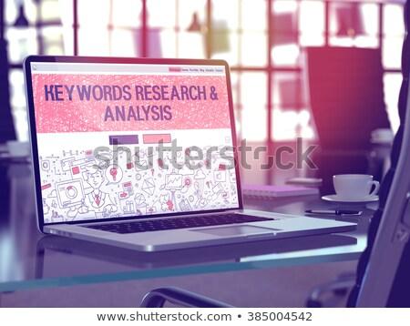 Investigación análisis portátil Screen 3D pantalla Foto stock © tashatuvango