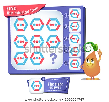Find the missing item hexagon iq Stock photo © Olena