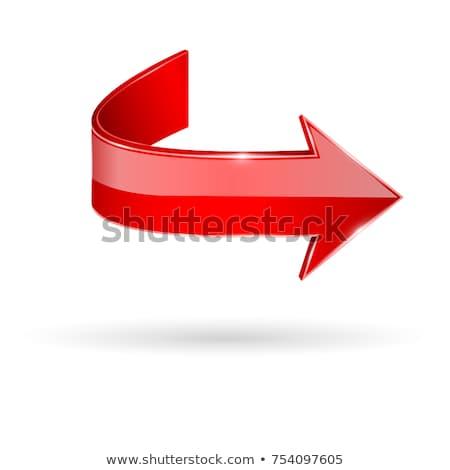 Piros nyíl fehér izolált 3d illusztráció absztrakt Stock fotó © ISerg
