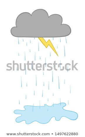 Cloud and rain isolated. Weather template Vector illustration Stock photo © popaukropa