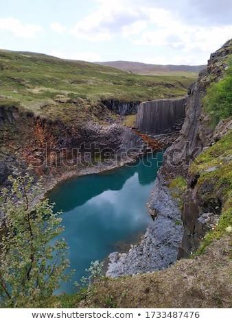Bazalt sütunlar doğa kaya güzel taş Stok fotoğraf © romvo