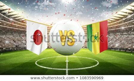 Futbol maç Japonya vs Senegal futbol Stok fotoğraf © Zerbor