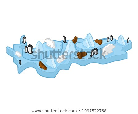 氷山 · インフォグラフィック · ベクトル · デザインテンプレート · 要素 - ストックフォト © popaukropa