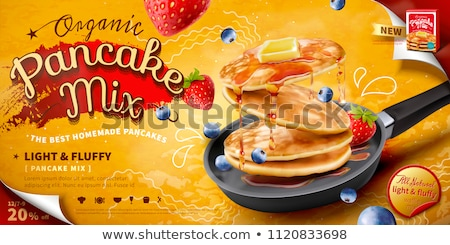 Delicious homemade pancakes Stock photo © Melnyk