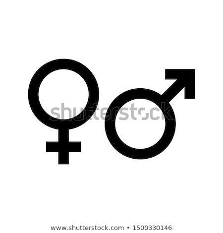Vrouw geslacht symbool vector icon dun Stockfoto © smoki