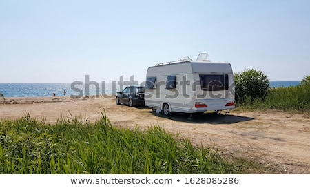 Summer caravan trailer beach background Stock photo © unikpix