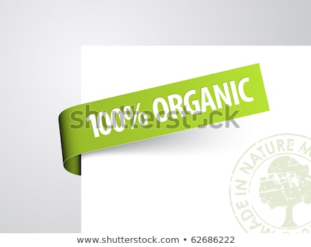 Green paper tag for organic item Stock photo © orson