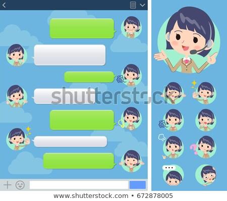 Call center woman sns window Stock photo © toyotoyo