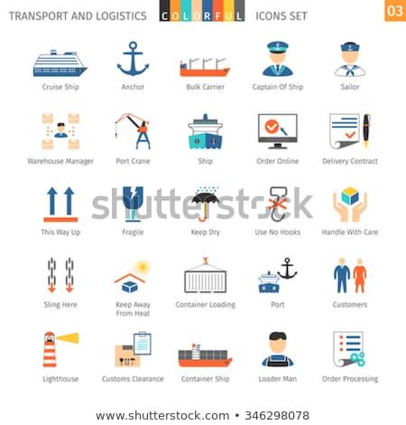 taşıma · simgeler · modern · teslim · paketleme - stok fotoğraf © genestro
