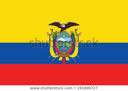 Stockfoto: Ecuador · vlag · witte · landschap · Blauw · reizen