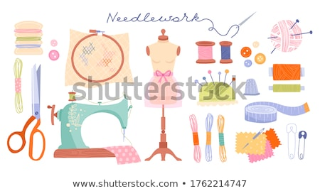 Stock photo: colorful threads and buttons