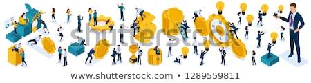 Karrier vektor illusztrációk szett üzletember siker Stock fotó © RAStudio