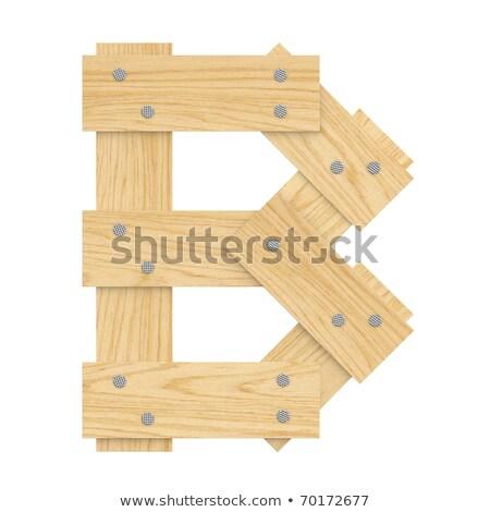 Brief hout boord doopvont plank nagels Stockfoto © popaukropa