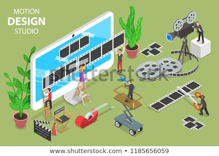 motion design studio isometric flat vector concept stock photo © tarikvision