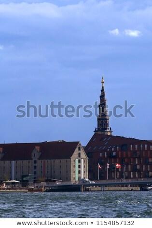 17 Kopenhagen Denemarken kerk hemel reizen Stockfoto © bdspn