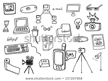Böngésző üzenet kézzel rajzolt skicc firka ikon Stock fotó © RAStudio
