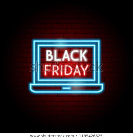 Black Friday Laptop Neon Concept Stock photo © Anna_leni