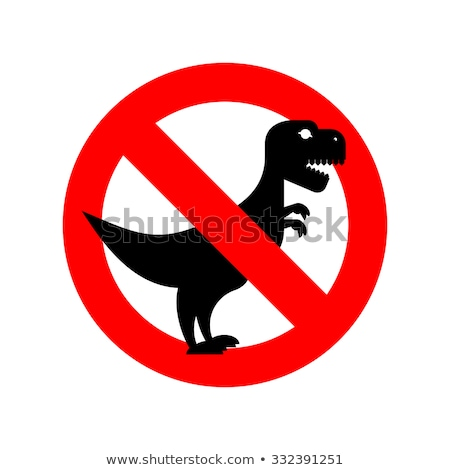 Stoppen Rood gevaarlijk kwaad scary dinosaurus Stockfoto © popaukropa
