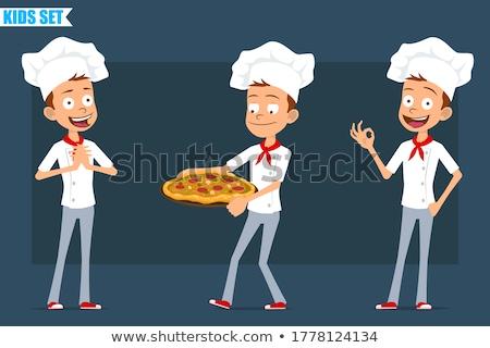 cartoon angry chef boy stock photo © cthoman