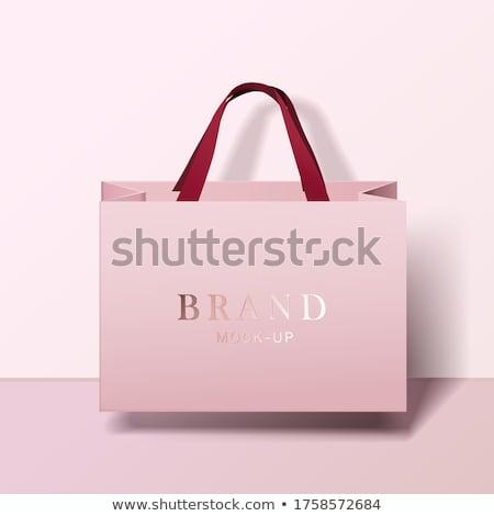 vector pink shopping bag stock photo © dashadima