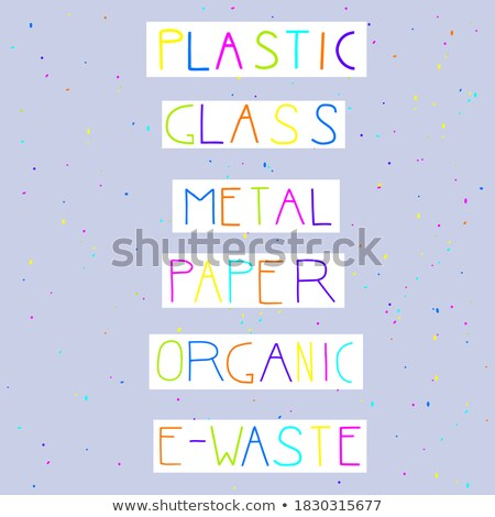металл отходов плакат текста образец оранжевый Сток-фото © robuart
