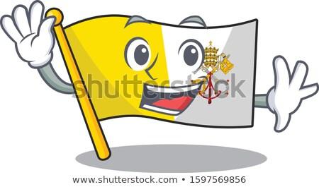 Integet rajz pápa illusztráció férfiak mosolyog Stock fotó © cthoman