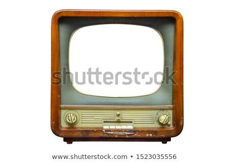 Rétro tv isolé blanche Photo stock © ordogz