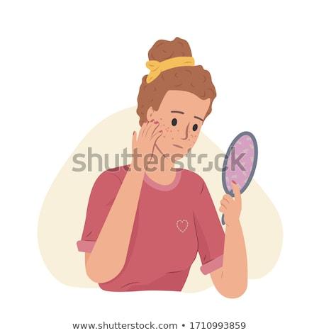 gezonde · huid · acne · medische · haren · gezondheid - stockfoto © pikepicture