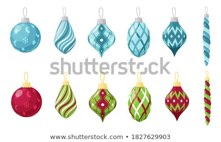 Toys Collection Isolated on Blue Vector Poster Stock photo © robuart