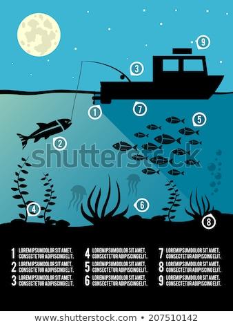 halászat · leszállás · net · hal · zsákmány · helyzet - stock fotó © robuart
