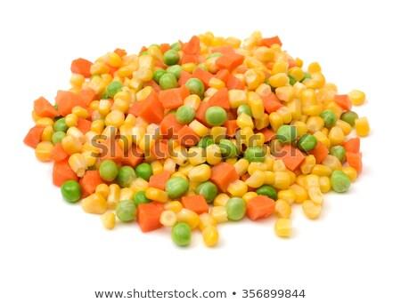 黄色 · トウモロコシ · サヤインゲン · 緑 · 新鮮な · 文化 - ストックフォト © tycoon