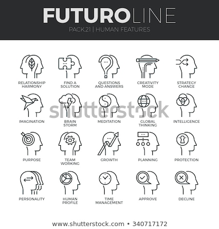 mind icons   modern set of flat design infographics elements stock photo © decorwithme