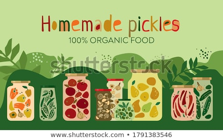 canned and pickled fruit and vegetable poster stock photo © robuart