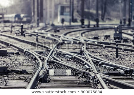 Foto stock: Confusing Railway Tracks
