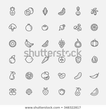 set · icone · funghi · isolato · bianco · alimentare - foto d'archivio © tele52