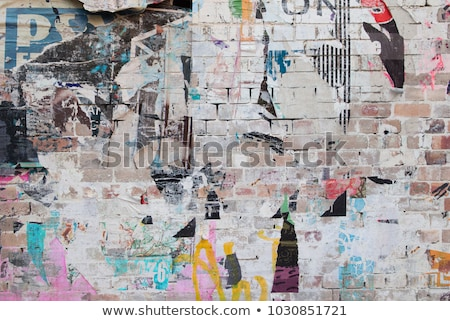 torn red wallpapers brick wall Stock photo © romvo