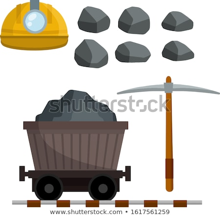 Mining carts loaded with stone and gold Stock photo © colematt