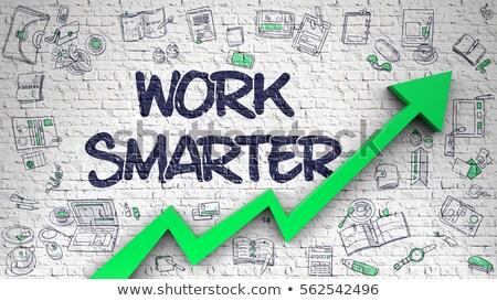 Smart Ideas Drawn on Brick Wall. 3D Rendering. Stock photo © tashatuvango