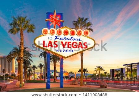 Cityscape görmek imzalamak simge vektör Stok fotoğraf © vector1st